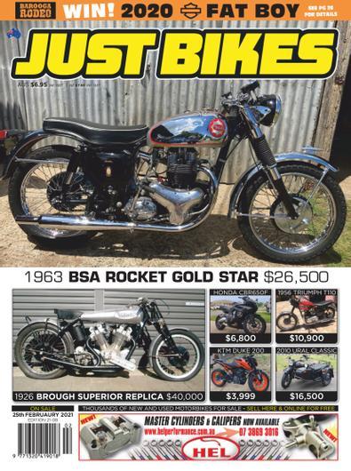 Just Bikes magazine cover