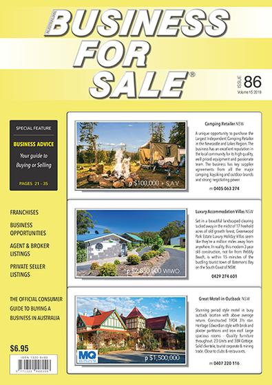 Australian Business For Sale magazine cover