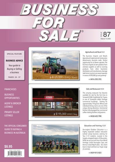Australian Business For Sale magazine cover