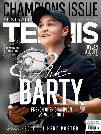 Australian Tennis Magazine cover