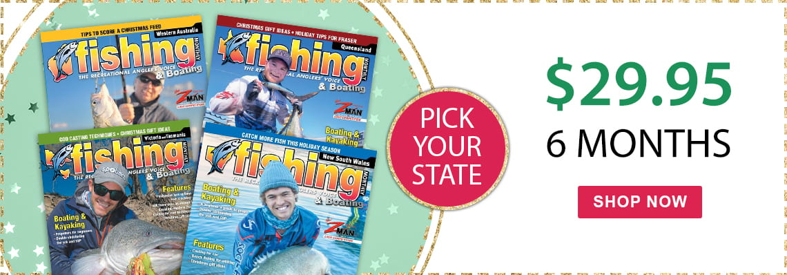 Fishing Monthly, just $29.95, pick your state