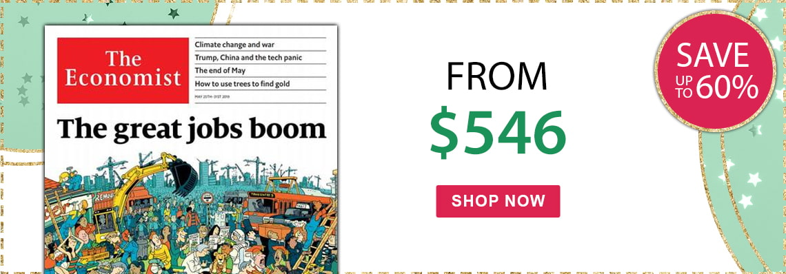 Save up to 57% on The Economist