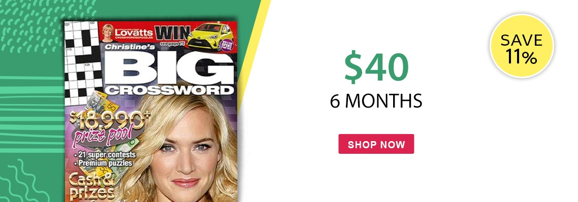 Christine's Big Crosswords, only $40