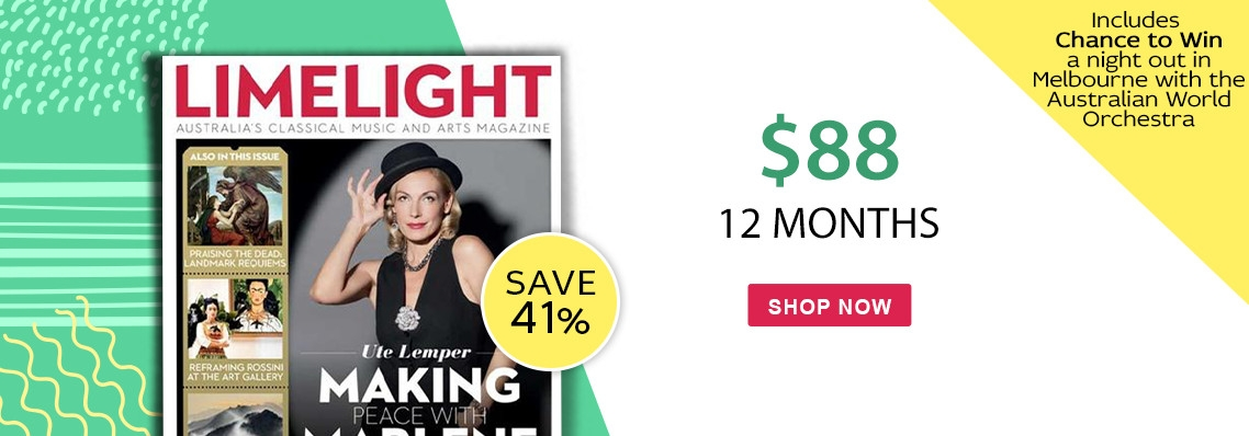 Limelight magazine, just $88, save 20% PLUS Chance to Win