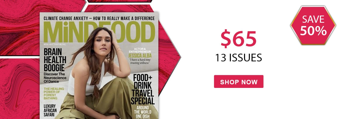 Save 50% on 12 month subscriptions to MiNDFOOD magazine