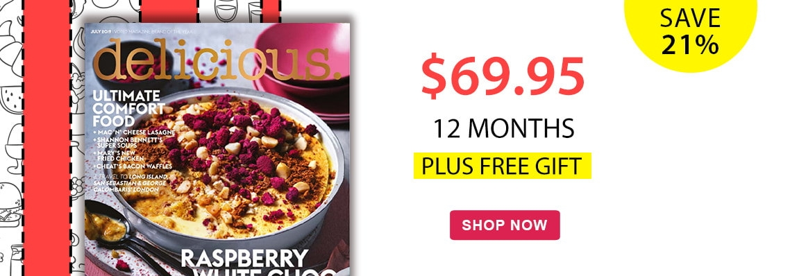 Free gift with every 12 month subscription to delicious. magazine