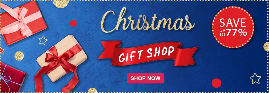 Christmas Gift Shop Now Open, save up to 77%