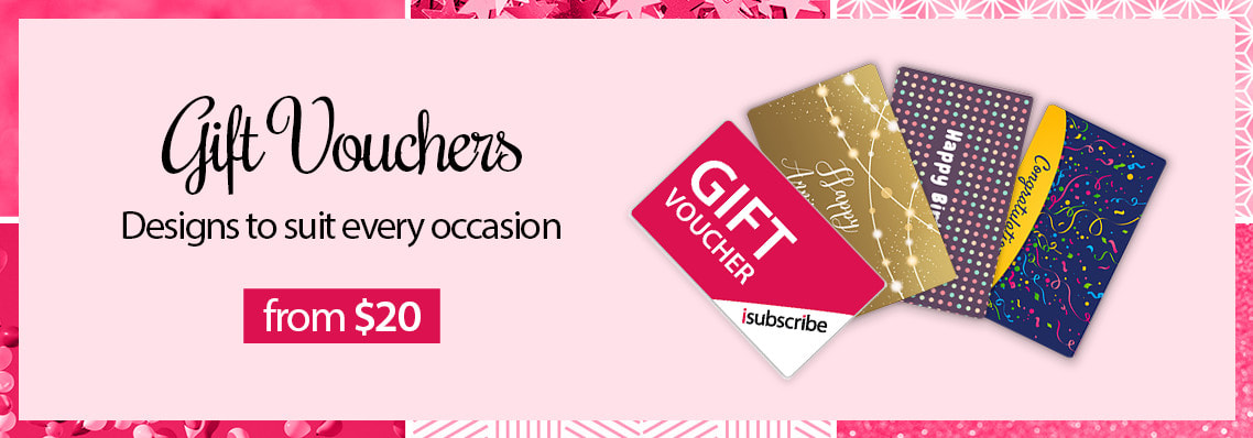 isubscribe Gift Vouchers available from $20