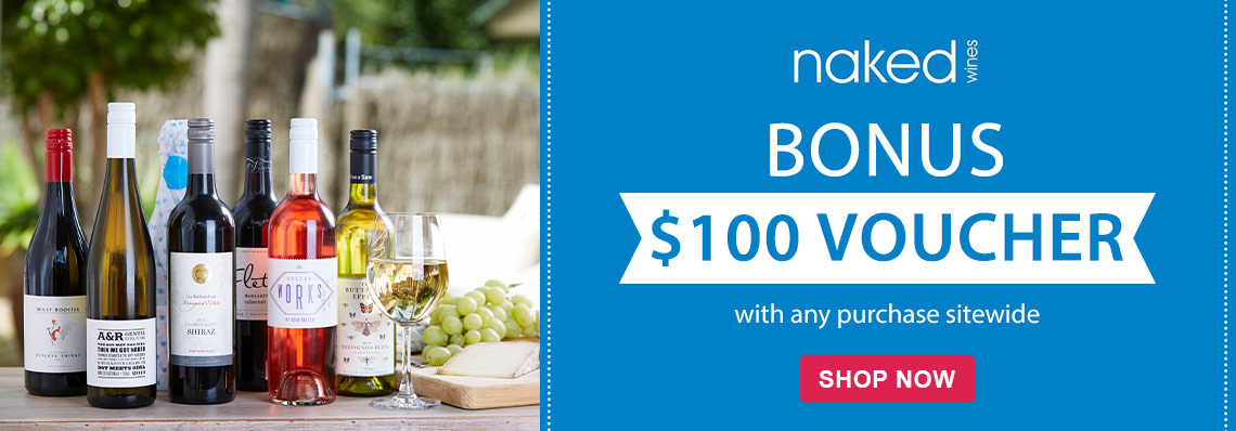 Nakes Wines $100 with any subscription sitewide at isubscribe