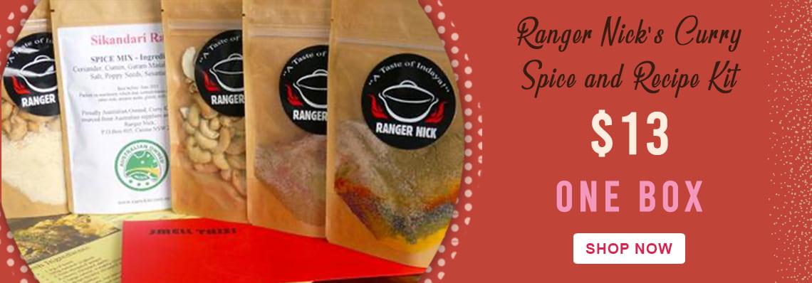 Ranger Nick's Curry Spice & Recipe Kit, just $13 for one box